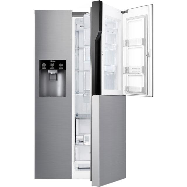 LG Door-in-Door™ GSJ560PZXV American Fridge Freezer - Steel - A+ Rated Best Price, Cheapest Prices
