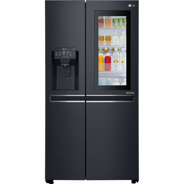 LG InstaView™ Door-in-Door™ GSX961MCVZ Wifi Connected Fridge Freezer - Matte Black - A++ Rated - GSX961MCVZ_MBK - 1