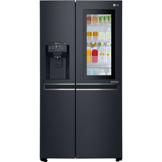 LG InstaView™ Door-in-Door™ American Fridge Freezer - Matt Black - A++ Rated