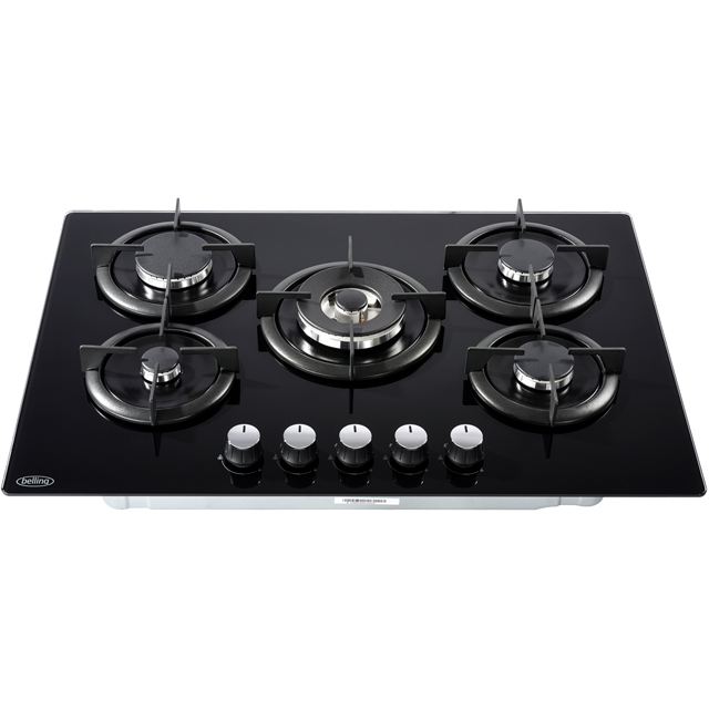Belling GTG75C Built In Gas Hob - Black - GTG75C_BK - 2