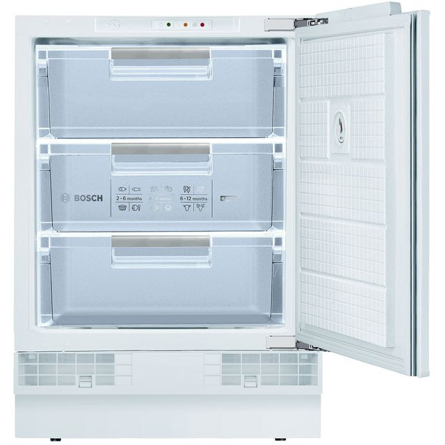 Bosch Serie 6 GUD15AFF0G Built In Under Counter Freezer - White - GUD15AFF0G_WH - 1