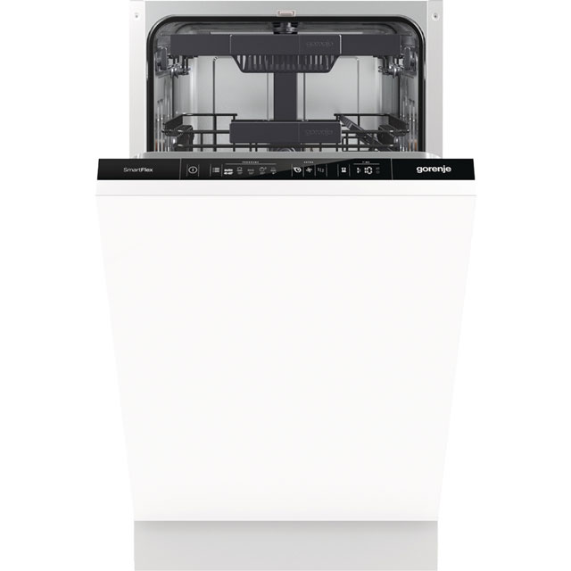 Gorenje Advanced Line GV55110UK Fully Integrated Slimline Dishwasher - Black Control Panel with Fixed Door Fixing Kit - A++ Rated - GV55110UK_BK - 1