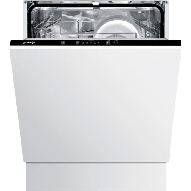 Gorenje GV62010UK Fully Integrated Standard Dishwasher - Black Control Panel with Fixed Door Fixing Kit - A++ Rated - GV62010UK_BK - 1