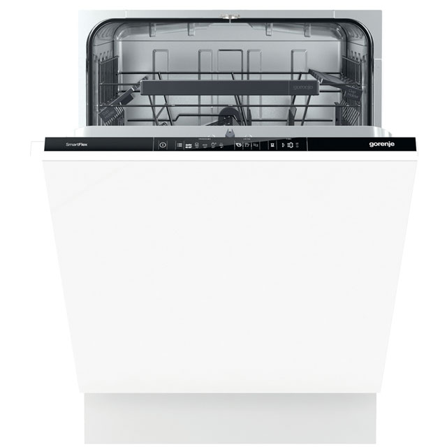 Gorenje Advanced Line GV64160UK Fully Integrated Standard Dishwasher - Black Control Panel with Fixed Door Fixing Kit - A++ Rated - GV64160UK_BK - 1