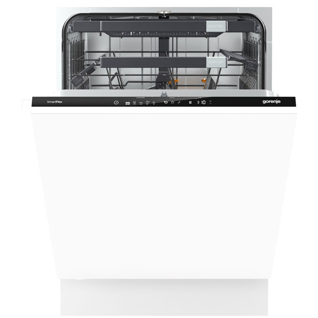 Gorenje Superior Line GV66260UK Fully Integrated Standard Dishwasher - Black Control Panel with Fixed Door Fixing Kit - A+++ Rated - GV66260UK_BK - 1