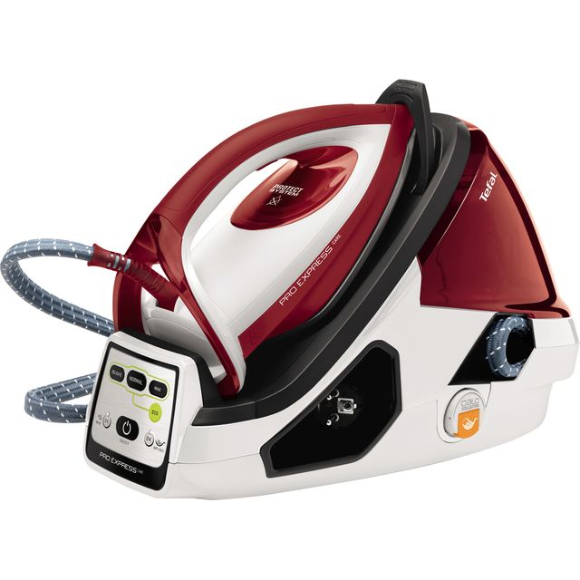 Tefal Pro Express Care Anti Scale Pressurised Steam Generator Iron - Red / White