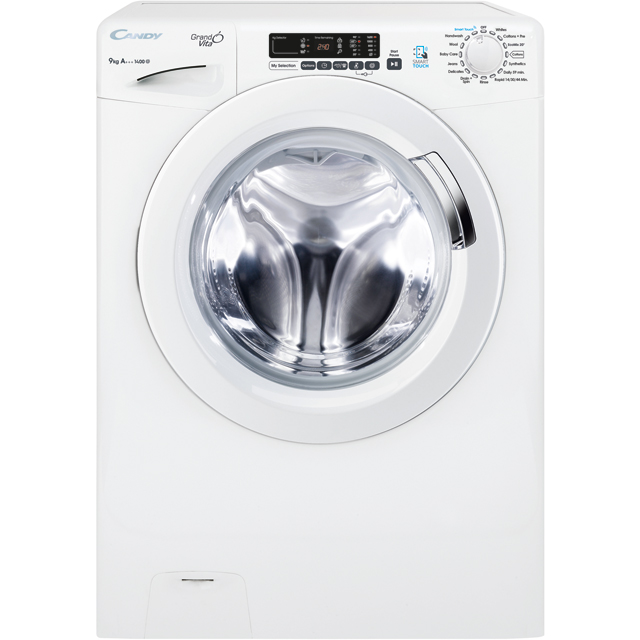 Candy Grand'O Vita GVS149D3W 9Kg Washing Machine with 1400 rpm - White - A+++ Rated - GVS149D3W_WH - 1
