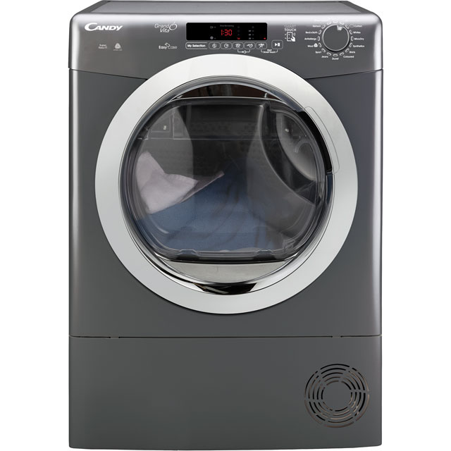 Candy Grand'O Vita Free Standing Condenser Tumble Dryer in Graphite