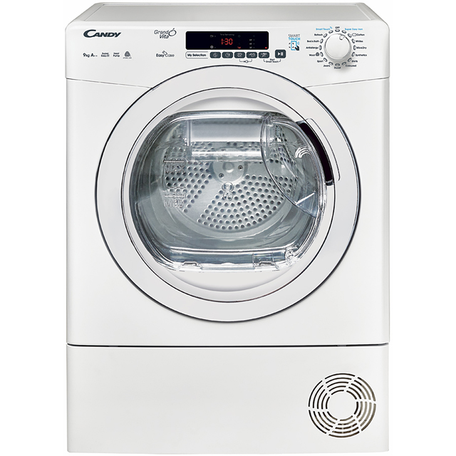 Candy Grand'O Vita GVSH9A2DE Free Standing Condenser Tumble Dryer in White