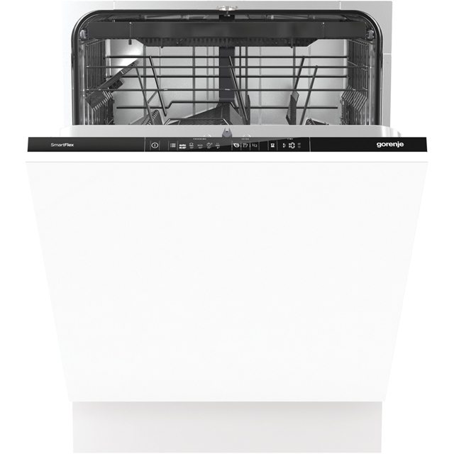 Gorenje GVSP165JUK Fully Integrated Standard Dishwasher - Black Control Panel with Fixed Door Fixing Kit - A+++ Rated
