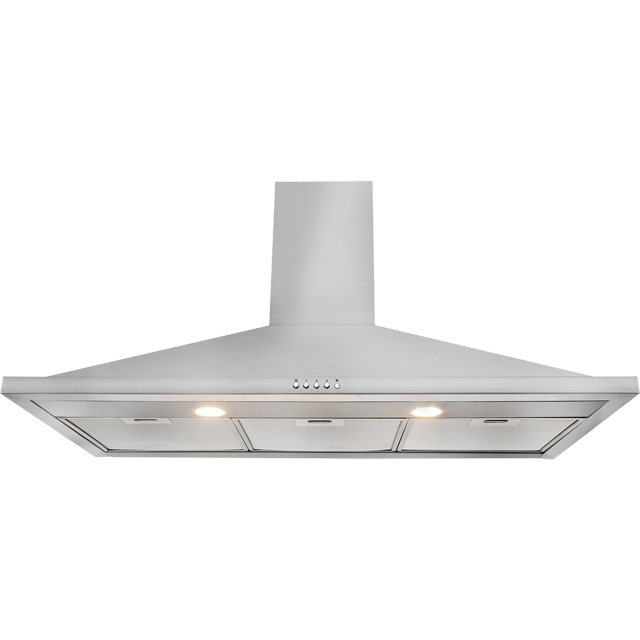 Leisure H102PX 100 cm Chimney Cooker Hood - Stainless Steel - C Rated - H102PX_SS - 1