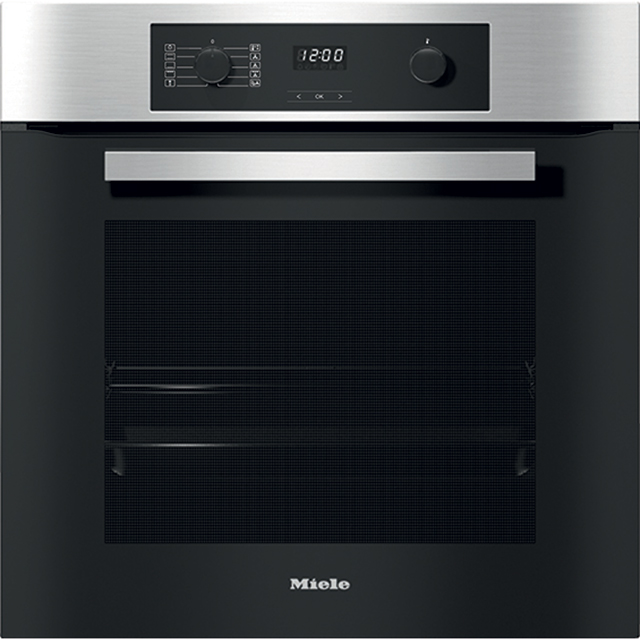 Miele H2265-1B Built In Electric Single Oven - Clean Steel - A+ Rated - H2265-1B_CS - 1