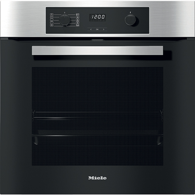 Miele H2267-1BP Built In Electric Single Oven - Clean Steel - H2267-1BP_CS - 1