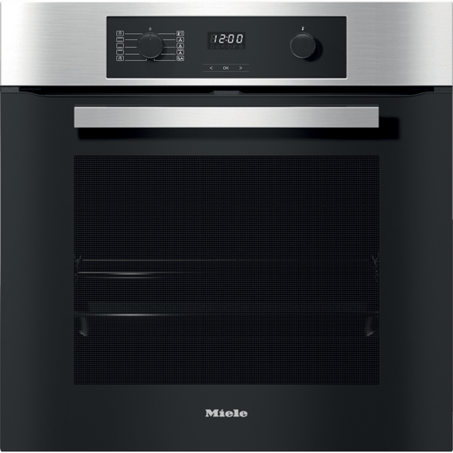 Miele H2267-1BP Built In Electric Single Oven - Clean Steel - A+ Rated - H2267-1BP_CS - 1