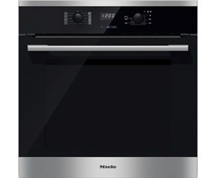 Miele ContourLine H2561B Built In Electric Single Oven - Clean Steel - A+ Rated - H2561B_CS - 1