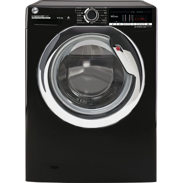 Hoover H-WASH 300 H3DS4965TACBE Wifi Connected 9Kg / 6Kg Washer Dryer with 1400 rpm - Black - A Rate