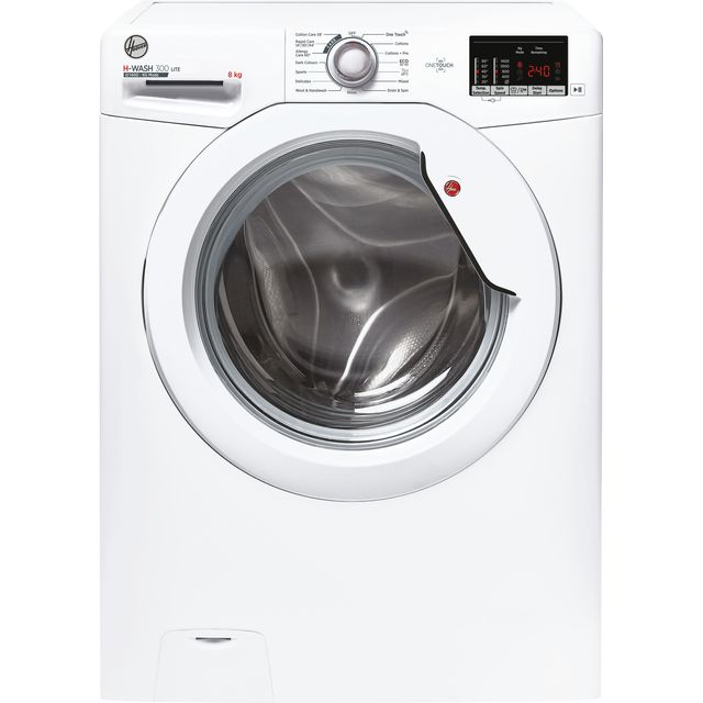 Hoover H-WASH 300 H3W482DE/1 8Kg Washing Machine with 1400 rpm - White - A+++ Rated - H3W482DE/1_WH - 1