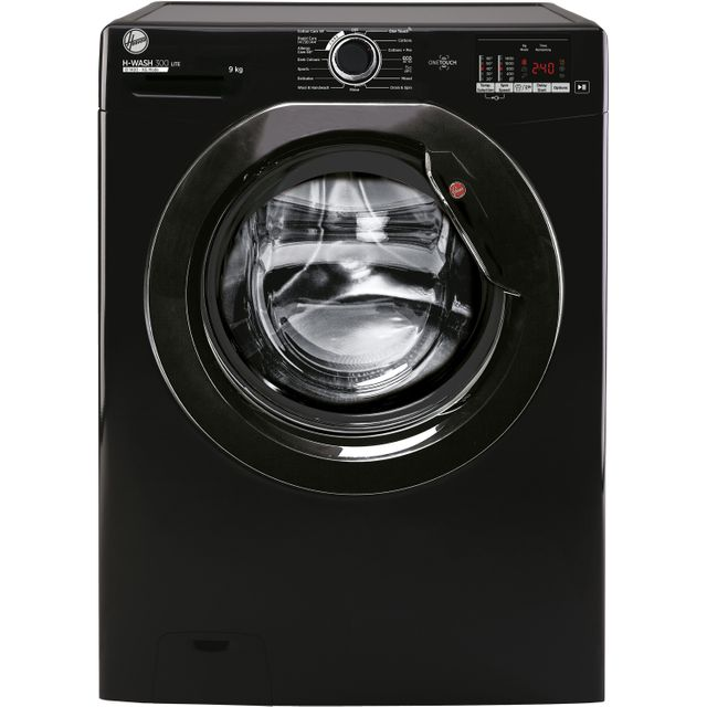 Hoover H-WASH 300 H3W492DBBE/1 9Kg Washing Machine - Black - H3W492DBBE/1_BK - 1
