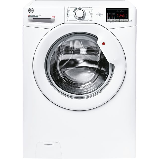 Hoover H-WASH 300 H3W492DE/1 9Kg Washing Machine with 1400 rpm - White - A+++ Rated - H3W492DE/1_WH - 1