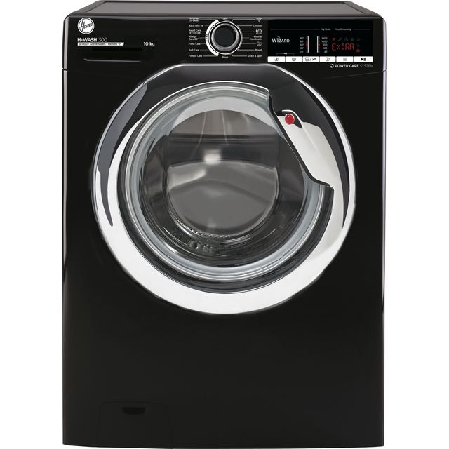 Hoover H-WASH 300 H3WS4105TACBE Wifi Connected 10Kg Washing Machine with 1400 rpm - Black - A+++ Rat