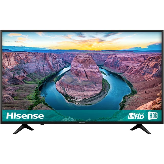 "Hisense H50AE6100UK 50"" Smart 4K Ultra HD TV with HDR and Freeview Play - Black - [A Rated] - H50AE6100UK - 1"