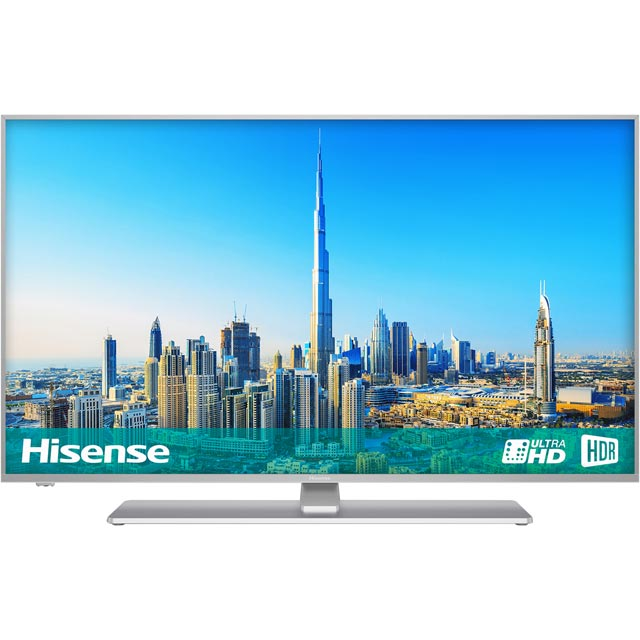 "Hisense 55"" Smart 4K Ultra HD Certified TV with HDR and Freeview Play - Black / Silver - [ Rated]"