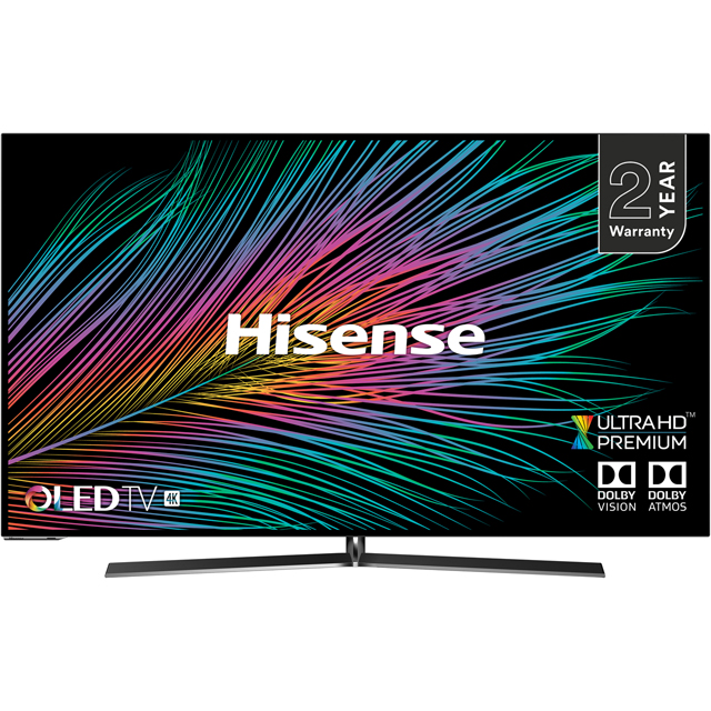 "Hisense H55O8BUK 55"" Smart 4K Ultra HD OLED TV with HDR10+, Dolby Vision, Dolby Atmos and Smooth Motion Rate 200"