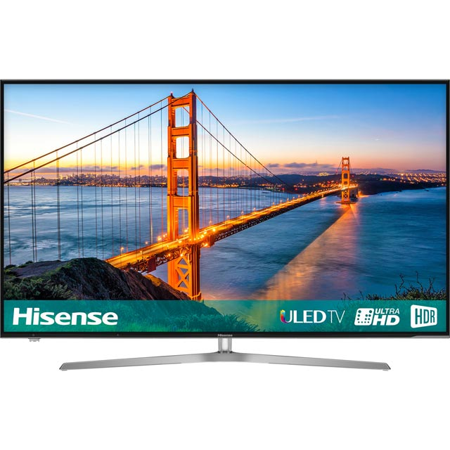 "Hisense H55U7AUK 55"" Smart 4K Ultra HD Certified TV with HDR and Freeview Play - Silver - [A Rated]"