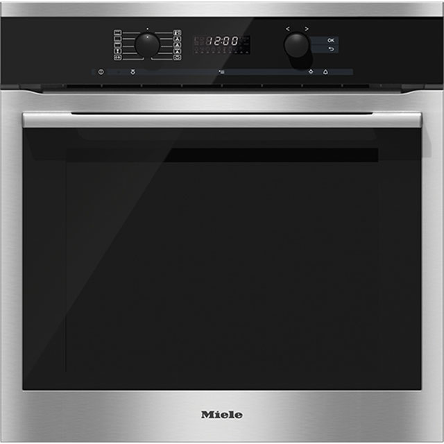 Miele ContourLine H6160B Built In Electric Single Oven - Clean Steel - A Rated - H6160B_CS - 1