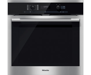 Product image for Miele H6160BP Electric Single Oven Clean Steel