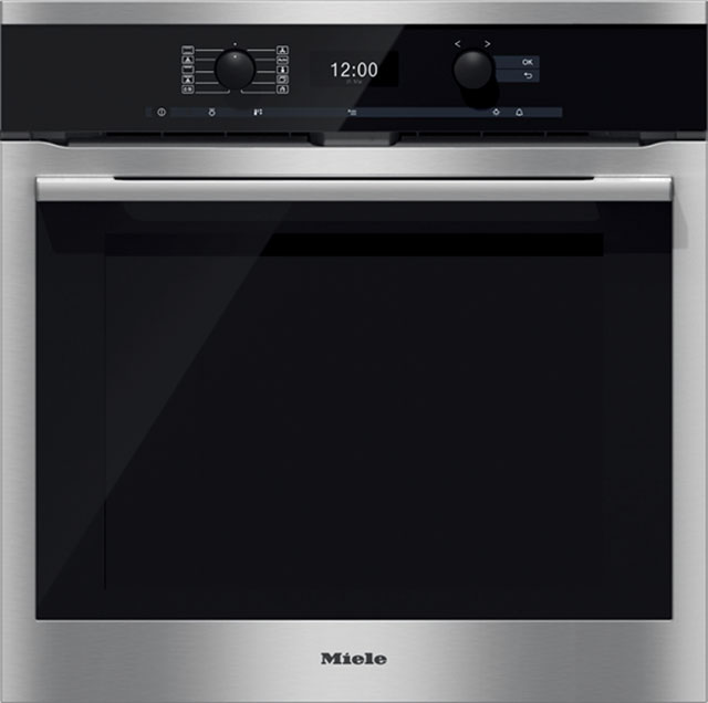 Miele H6360BP Built In Electric Single Oven with added Steam Function - Clean Steel - A+ Rated