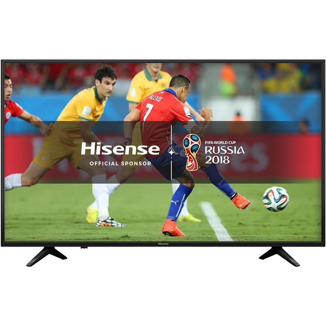 """Hisense 65"""" H65A6200UK Smart 4K Ultra HD Certified TV with HDR and Freeview Play - Black"""