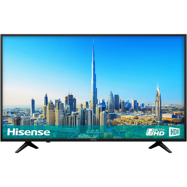 "Hisense H55A6200UK 55"" Smart 4K Ultra HD TV with HDR and Freeview Play - Black - [A Rated] - H55A6200UK - 1"
