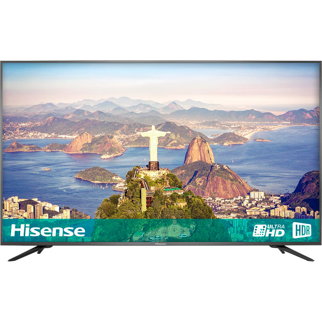 "Hisense H75A6600UK 75"" Smart 4K Ultra HD TV with HDR and Freeview Play - Black - [B Rated] - H75A6600UK - 1"