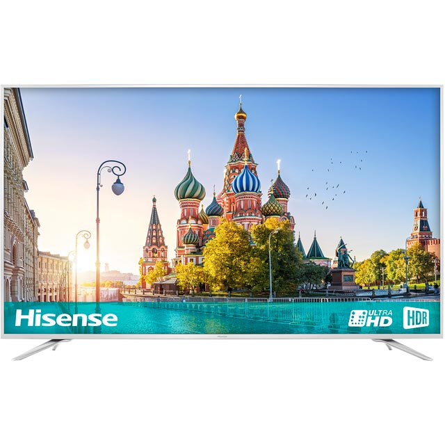 "Hisense H75NEC6700UK 75"" Smart 4K Ultra HD Certified TV with HDR and Freeview Play - Silver - [A Rated]"