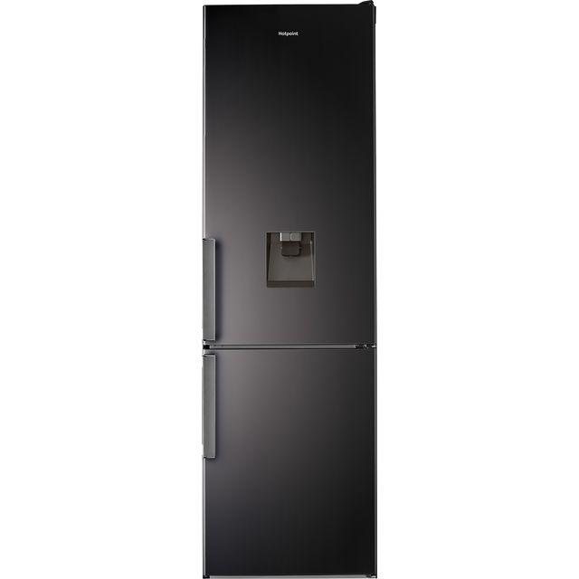 Hotpoint H7T911AKSHAQUA1 201x60cm 368L Freestanding Fridge Freezer With Non-plumb Water Dispenser - Black Steel
