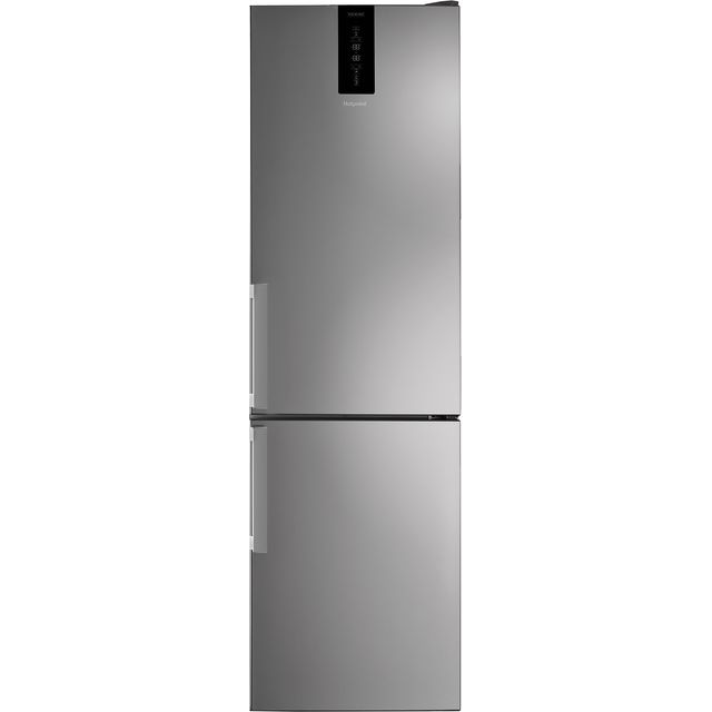 Hotpoint H7T911TMXH1 201x60cm 368L Freestanding Fridge Freezer - Shiny Steel