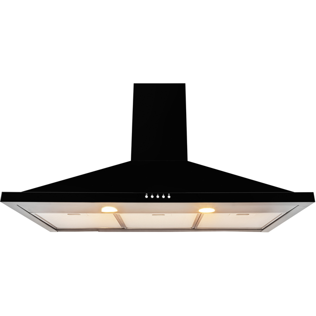 Leisure H92PK 90 cm Chimney Cooker Hood - Black - H92PK_BK - 1