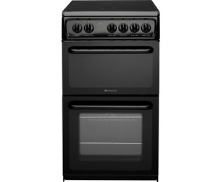 Hotpoint HAE51KS Electric Cooker with Ceramic Hob - Black - B Rated - HAE51KS_BK - 1