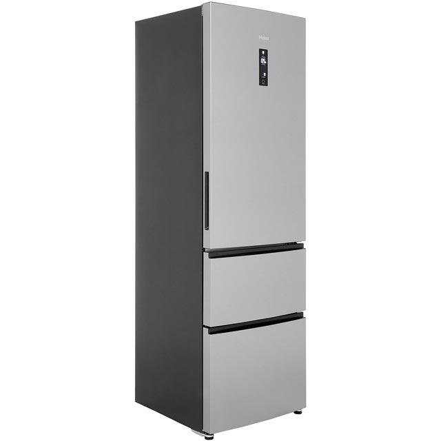 Haier A2FE635CFJ Free Standing Fridge Freezer Frost Free in Stainless Steel