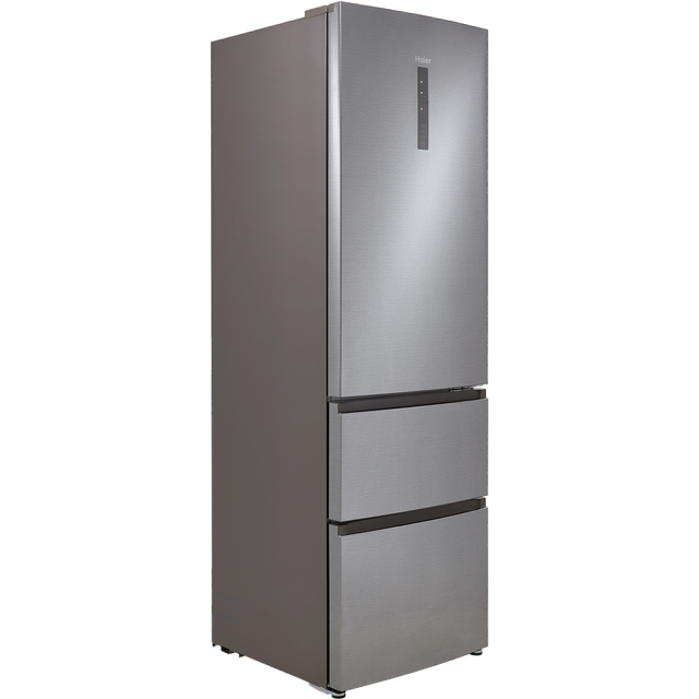 Image of Haier A3FE635CGJE 60/40 Frost Free Fridge Freezer - Silver - A+ Rated