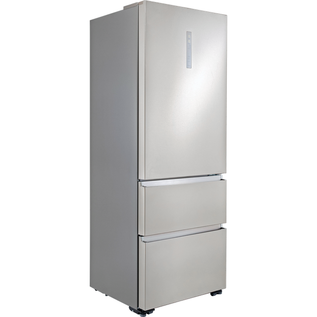Image of Haier A3FE743CPJ American Fridge Freezer - Stainless Steel Effect - E Rated