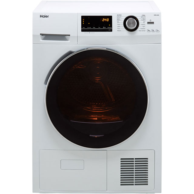 Haier HD90-A636 9Kg Heat Pump Tumble Dryer - White - A++ Rated