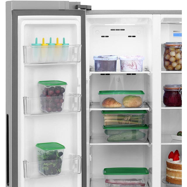 Haier HRF-450DS6 American Fridge Freezer - Silver - HRF-450DS6_SI - 3