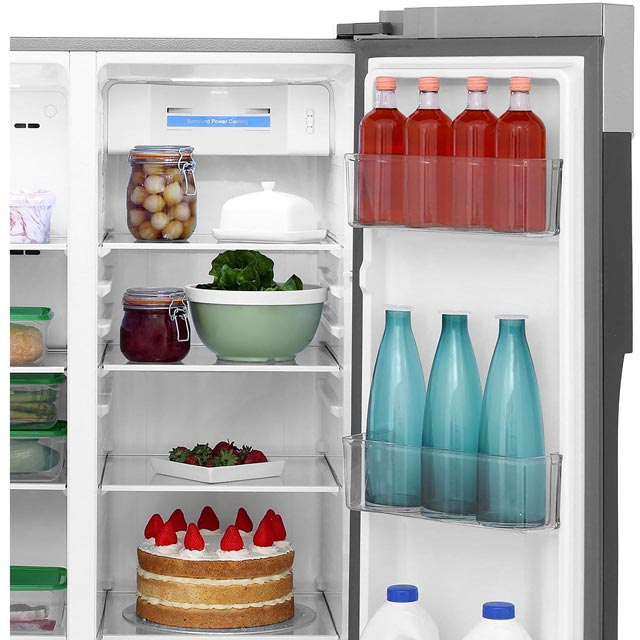 Haier HRF-450DS6 American Fridge Freezer - Silver - HRF-450DS6_SI - 4