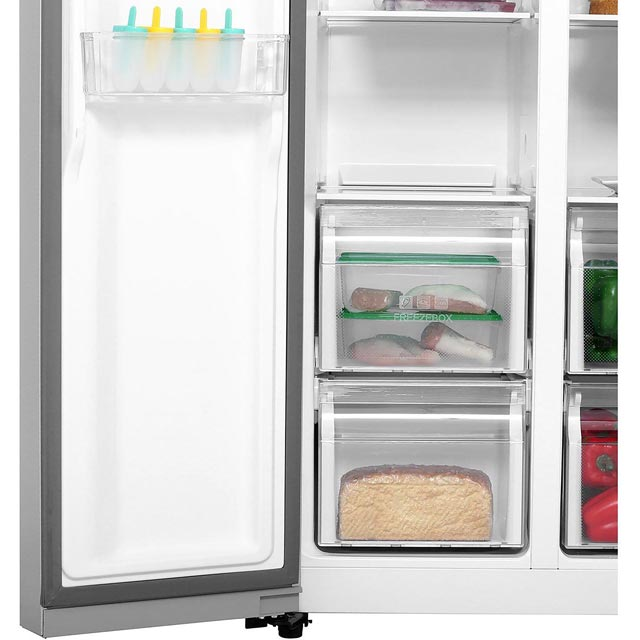 Haier HRF-450DS6 American Fridge Freezer - Silver - HRF-450DS6_SI - 5