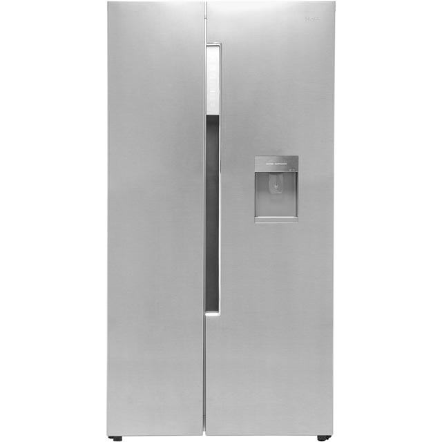 Haier Free Standing American Fridge Freezer in Stainless Steel Effect