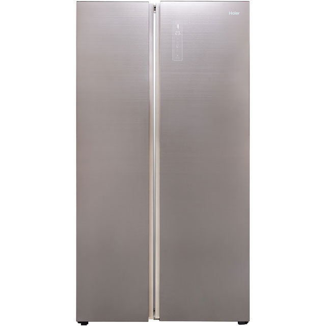 Haier HRF-800DGS7 American Fridge Freezer - Titanium - A++ Rated Best Price, Cheapest Prices