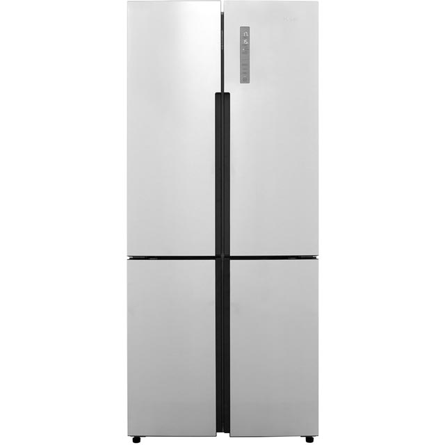 Haier HTF-452DM7 Extra Wide American Fridge-over-freezer Grey