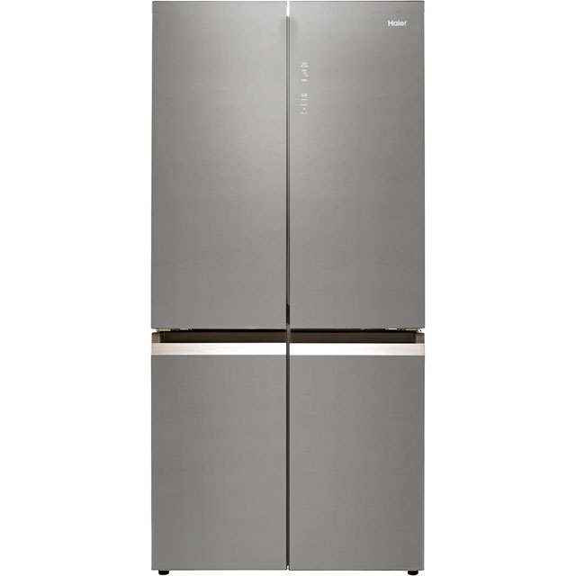 Haier HTF-540DGG7 American Fridge Freezer - Grey / Glass - A++ Rated